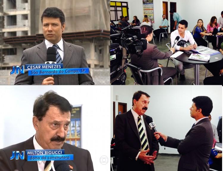 Milton Bigucci em entrevista para o Jornal Nacional, da TV Globo